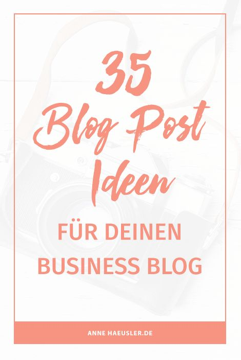 """Gerade wenn du dein Blog nicht """"nur"""" zum Spaß betreibst, sondern der Blog dein Unternehmen stützen und bekannter machen soll, kann es manchmal mühsam sein, immer neue Ideen zu entwickeln. Schließlich hast du als Unternehmerin noch 1000 andere Dinge im Kopf."""
