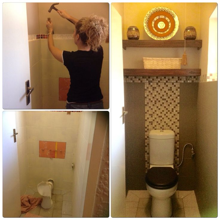 Small bathroom revamp for the toilet in Lisa B's Art studio