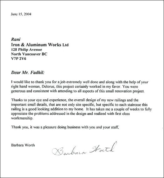 appreciation letter to employees for a job well done in word