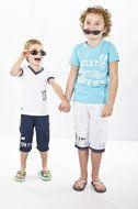 Shirt #Mario #Aqua uit de jongens collectie van het merk #Quapi #Kidswear zomer collectie 2014 Mooi licht blauw t-shirt met witte opdruk. Het shirt is goed te combineren met  de korte broek Mark wit ook van Quapi. www.lotenlynn.nl