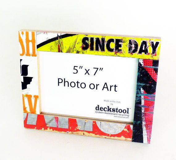 Picture Frame #006 for 5x7 photo. Made from Recycled Skateboards by ...