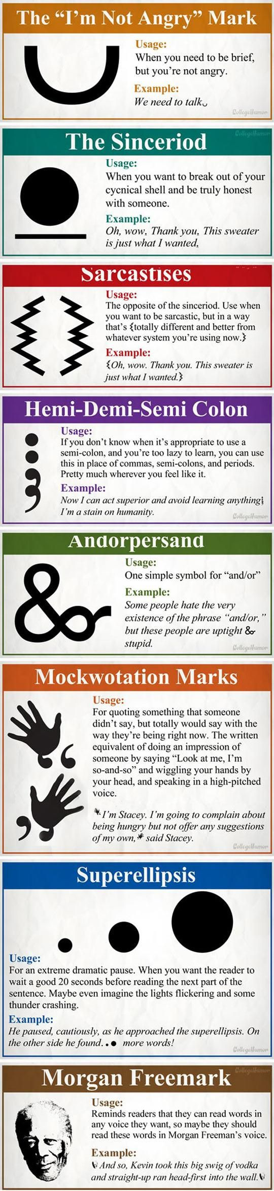 New And Necessary Punctuation Marks
