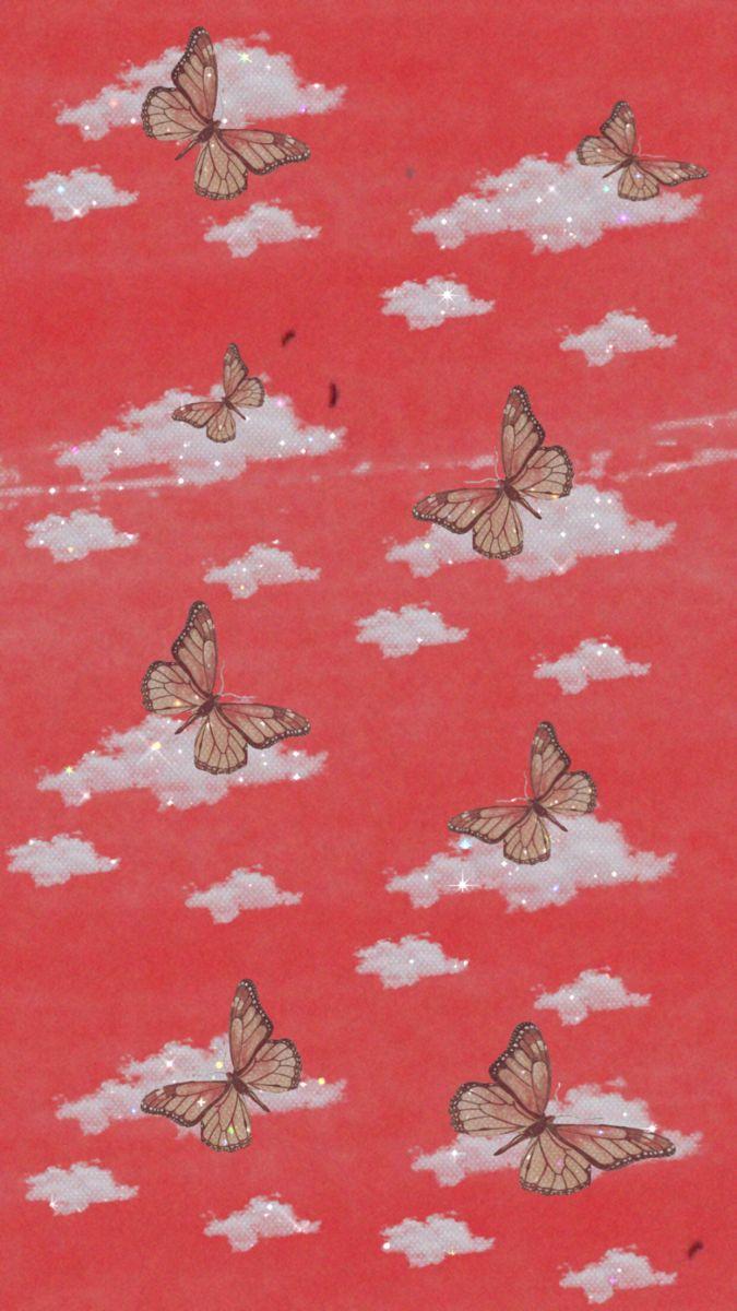 Red Inspired Wallpaper Butterfly Wallpaper Iphone Butterfly Wallpaper Red Wallpaper