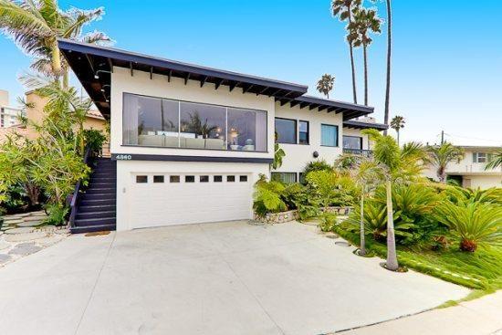 Retro Beach House In San Diego California Usa