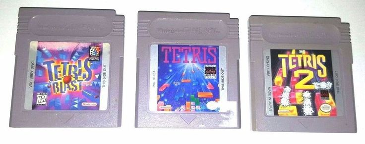 3 Original Gameboy Games Lot GBC GBA SP ~ TETRIS ~ TETRIS 2 ~ TETRIS BLAST ~ Fun