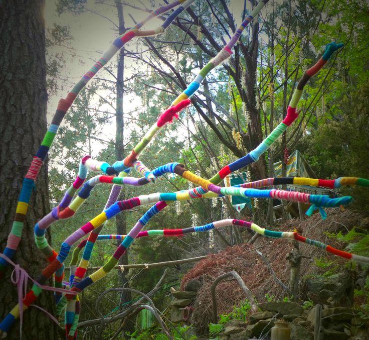 serpent de laine aux arbres yurtao
