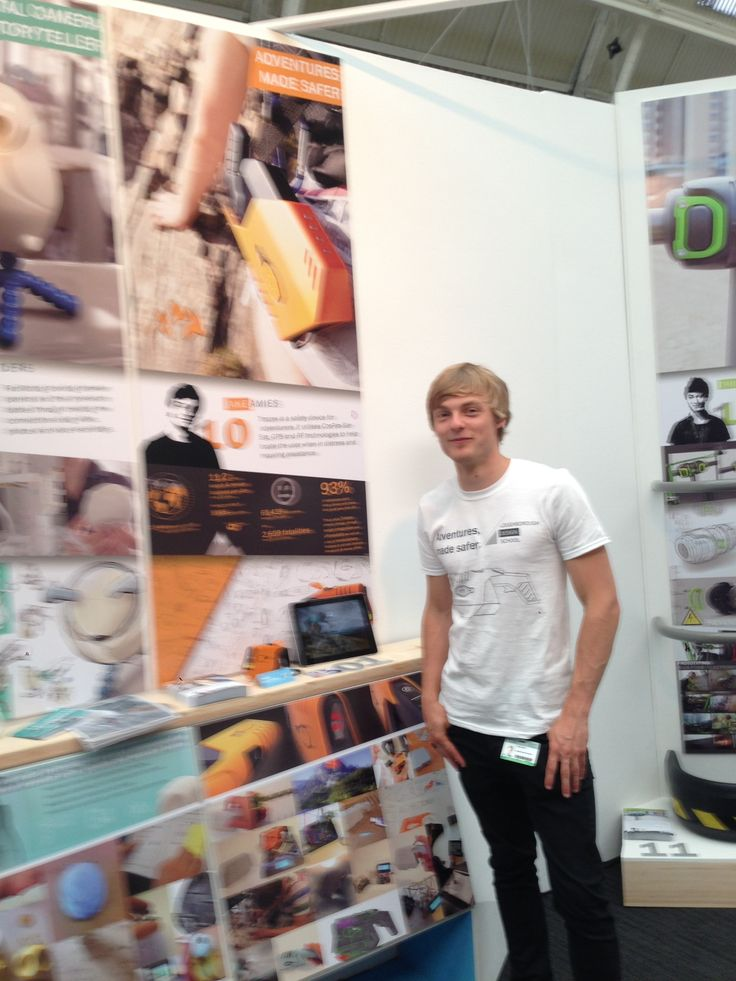 A slightly blurry shot of me with my stand at New Designers 2014. Lboro @ND14.