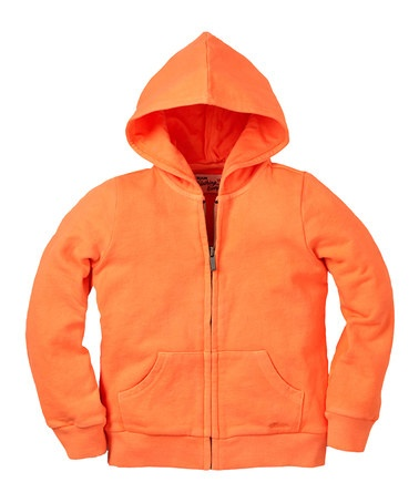 Take a look at this Neon Orange Zip-Up Hoodie - Infant & Toddler by RUUM on #zulily today!