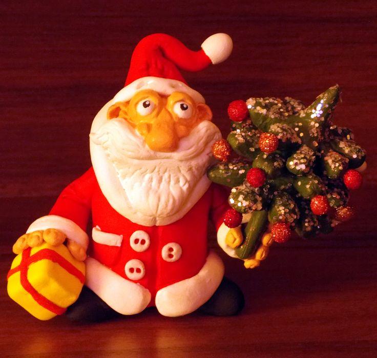 Дед Мороз . Полимерная глина