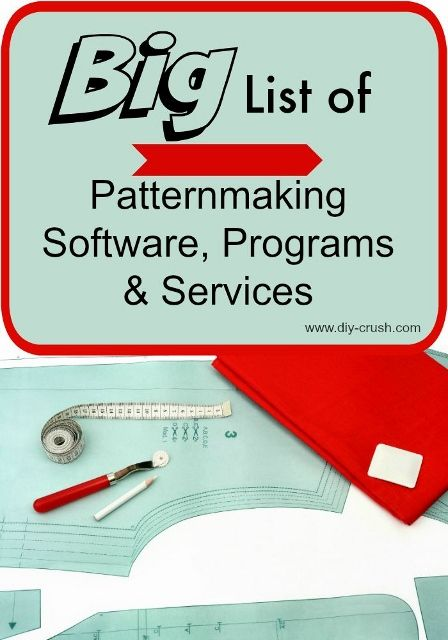 Big List of Patternmaking Software and programs. If you are a sewist that wants to start making money with selling sewing patterns, this post is for you. Find several professional patternmaking programs and software plus individual businesses that offer pattern drafting services.