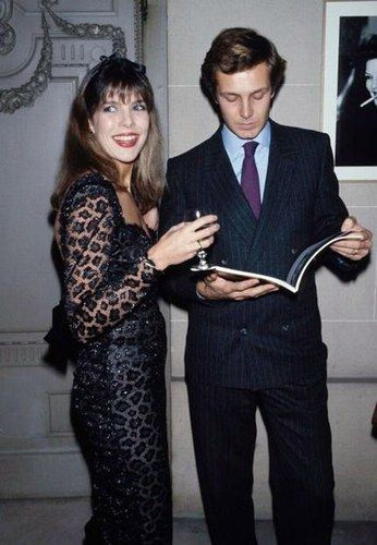 Princess Caroline with husband Stefano Casiraghi, who was always inclined to look serious.