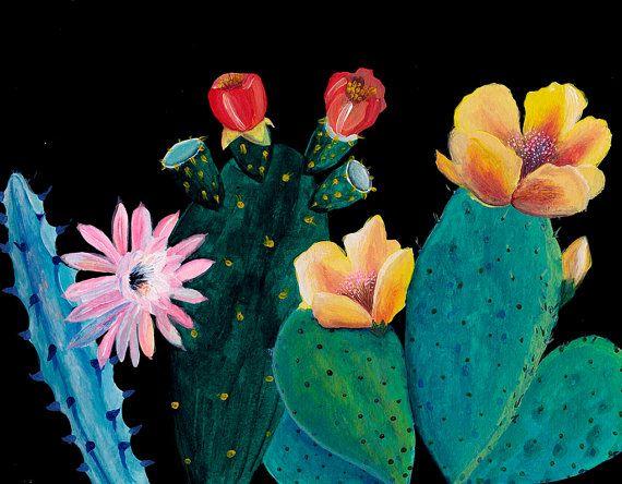 Yellow flowers night garden illustration giclee by artandpeople
