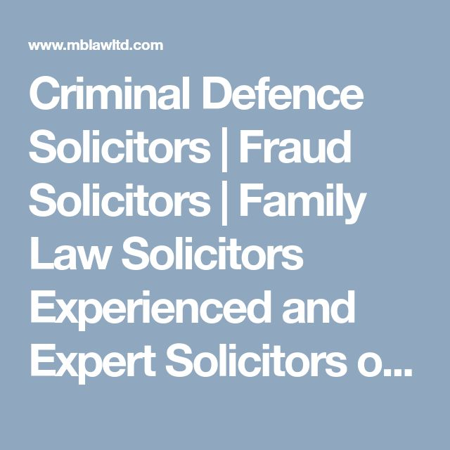 Criminal Defence Solicitors | Fraud Solicitors | Family Law Solicitors   Experienced and Expert Solicitors of MB Law Ltd. provides Free Legal Advice regarding any personal and business problem.  For More Info Click Here: http://www.mblawltd.com/ Contact Us: 07737996126  #MBLawLtd #MBLawLtdinHounslow