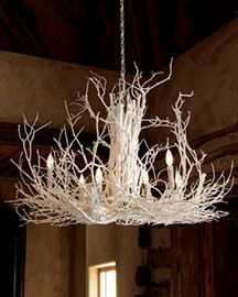Gorgeous white twig chandelier