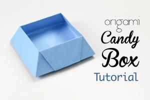 Origami Candy Box Tutorial!: Origami Candy Box Tutorial