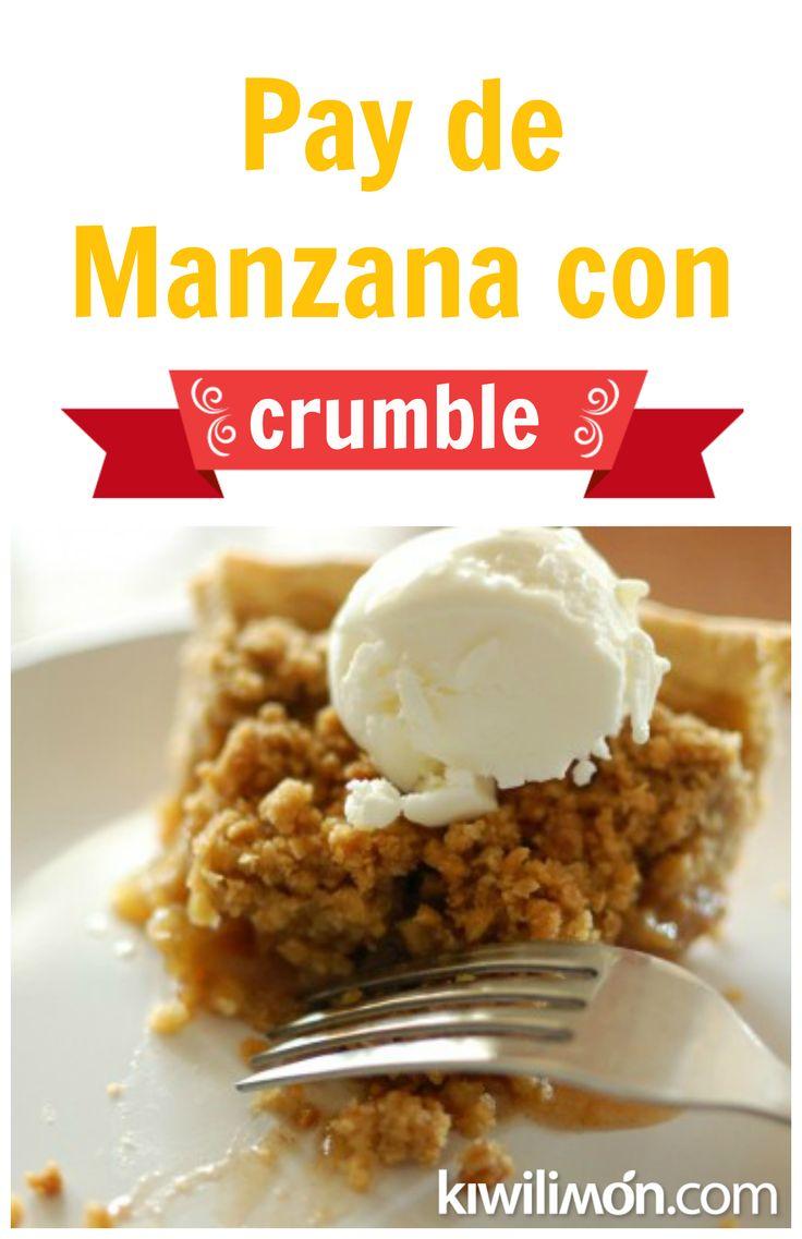 Con esta receta podrás preparar un Pay de Manzana con Crumble que es completamente diferente a la receta tradicional, el resultado es una delicia de manzana con una capa crocante.