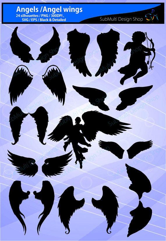 engel silhouet / svg-bestanden / engel door ArcsMultidesignsShop