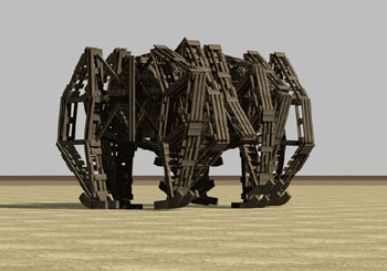 Theo Jansen's Strandbeests- kinetic sculptures.