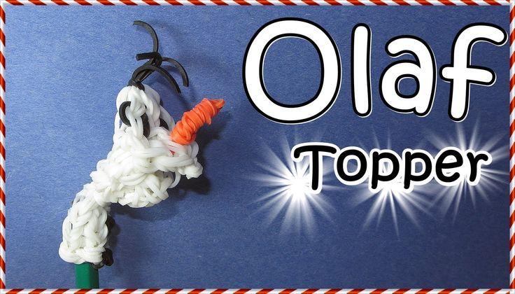 DISNEY's FROZEN OLAF Rainbow Loom Charm / Pencil Topper