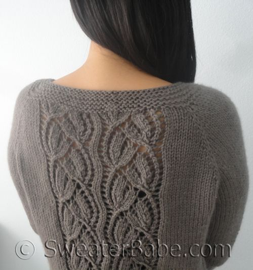 PDF Knitting Pattern for Simply SweaterBabe Top-Down Cardigan from SweaterBab...