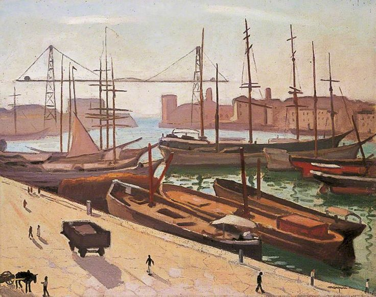 Le port de Marseille, France  by Albert Marquet  Leeds Museums and Galleries        Date painted: 1916      Oil on canvas, 78.8 x 91.4 cm      Collection: Leeds Museums and Galleries