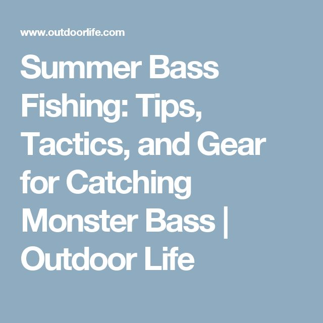 Summer Bass Fishing: Tips, Tactics, and Gear for Catching Monster Bass | Outdoor Life