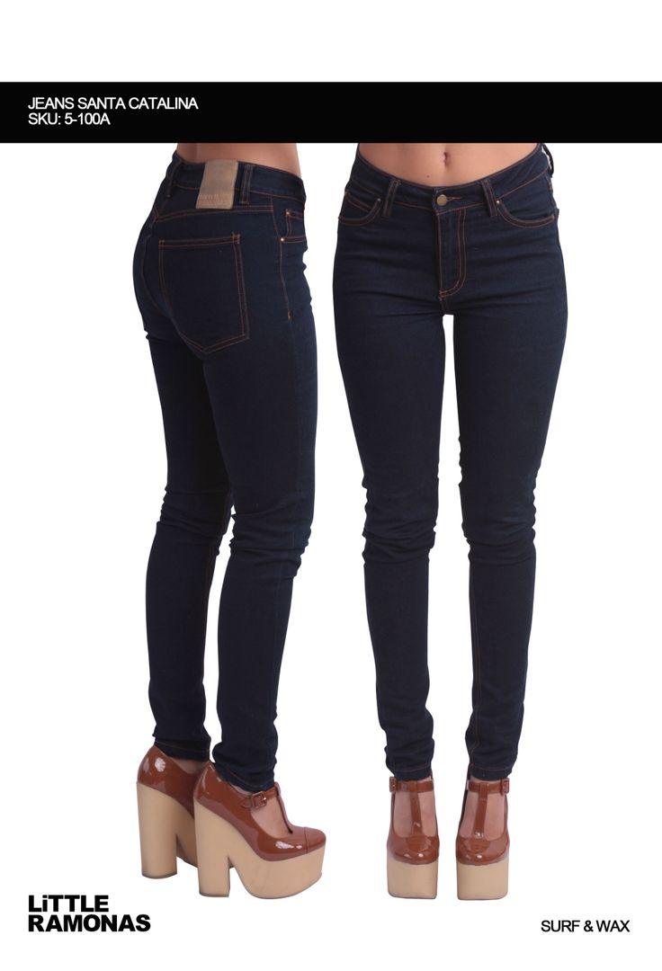 Santa Catalina Dark Wash Jeans www.littleramonas.com