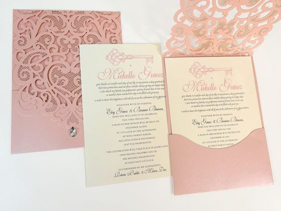 Image Result For Dusty Rose Cuttlebug Wedding Invitations