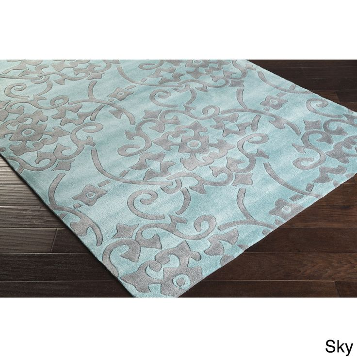 Hand Tufted Floral Contemporary Area X   Overstock™ Shopping   Great Deals  On   Rugs
