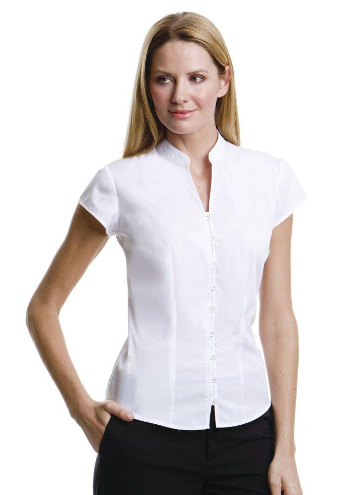 Mandarin collar shirt women google search clothes for for Small collar dress shirt