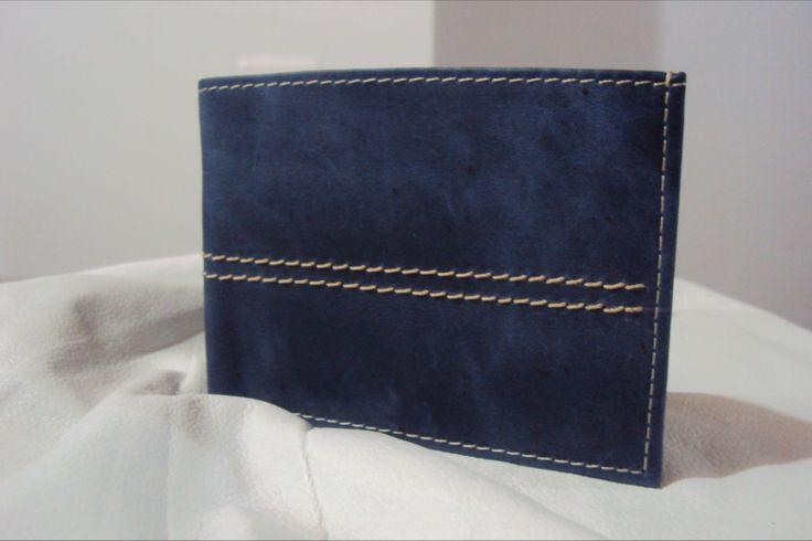 Billetera para hombre - cuero imitación jean