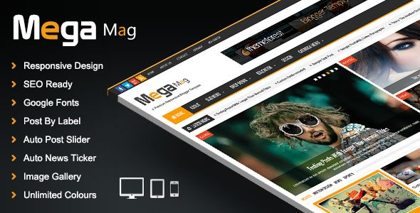 Mega Mag Responsive Magazine Blogger Template - http://nulledtemplates.net/templates/mega-mag-responsive-magazine-blogger-template.html Mega Mag Responsive Magazine Blogger Template Mega Mag responsive magazine blogger template is a another beautiful modern blogger template. its clean and fresh style responsive blogger design and high user friendly blogger template. This theme perfect for news, magazine and personal websites. Mega Mag – Responsive Magazine Blogger Template
