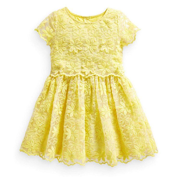 Mustard yellow collared dress girls