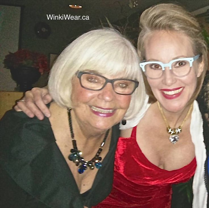 Frame of the Week - 2 gorgeous frames from ProDesign. Jean is wearing model 4681, and Laura is wearing 4697. #kelowna #art4eyes