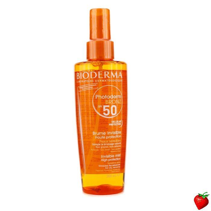 Bioderma Photoderm Bronz Invisible High Protection Spray SPF50 (For Sensitive Skin) 200ml/6.7oz #Bioderma #Skincare #Sunscreen #SummerSpecials #Summer #Beach #Beauty #HotPick #FREEShipping #StrawberryNET