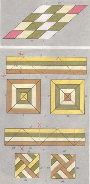 SPEED SEWING TECHNIQUE Fig. 6. Assembling rhombic pattern (top). Assembling the…