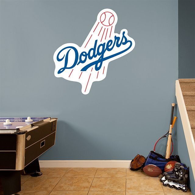 Los Angeles Dodgers Logo Real Fathead Wall Graphic