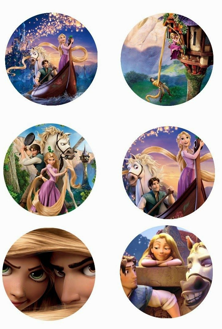 "Folie du Jour Bottle Cap Images: Tangled Disney free 1"" one 1 inch digital bottle cap images"