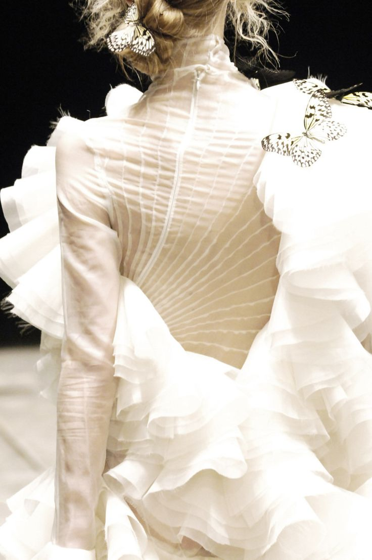 Alexander McQueen  How that pleats are constructed!!!!!!  It seems there is no…                                                                                                                                                                                 Plus