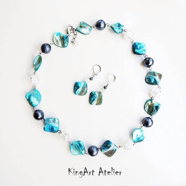 Seaside casual handmade set by KingArt Atelier