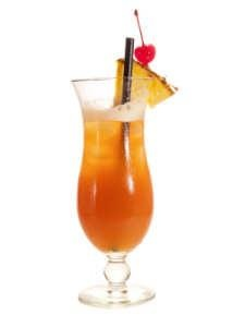Girl on Fire Cocktail    Ingredients    ¼ oz Captain Morgan's Rum  ½ oz Meyers Rum  1½ oz Orange juice  1½ oz Pineapple juice  1 oz Sweet and sour    Instructions    1.Shake and strain this drink into an ice-filled Hurricane glass.  2.Float Meyers rum and Garnish with a Pineapple