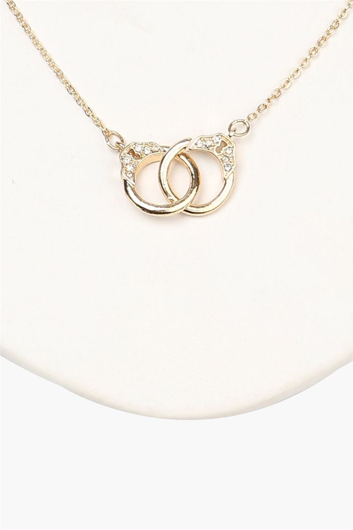 Handcuff Necklace in Gold
