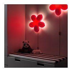 IKEA - SMILA BLOMMA, Wall lamp,  , , Casts a soft light.