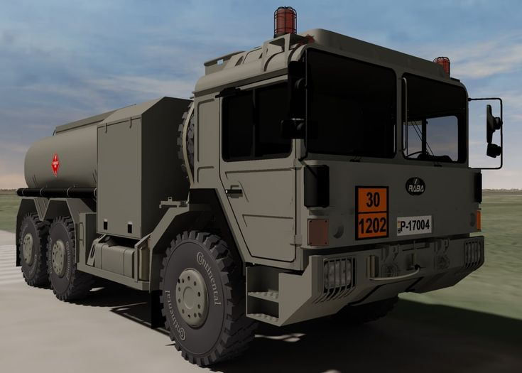 Hungarian Raba H25 Fuel Truck 3D 3Ds - 3D Model
