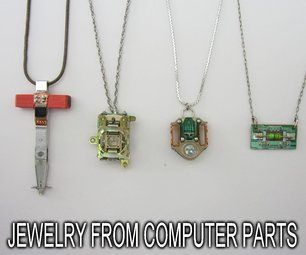 Make Jewelry From Computer Parts by DIY Hacks and How Tos on Instructables #jewelrymakinghacks