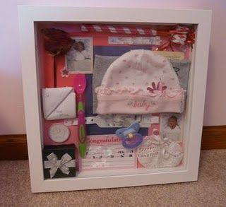 Baby's Memory Box. I like how this one includes baby's first spoon and a pacifier. And she included a gift from her to open on her 16th birthday.