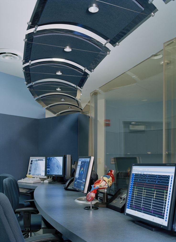 Getting techy - curved aluminum ceiling panels at John Muir Hospital #MozDesignerMetals #HealthcareDesign