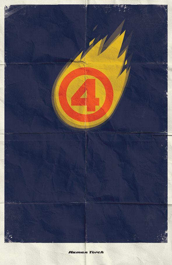Minimalist Superhero posters by Macedonian graphic designer & illustrator Marko Manev. Terrific! via My Modern Met