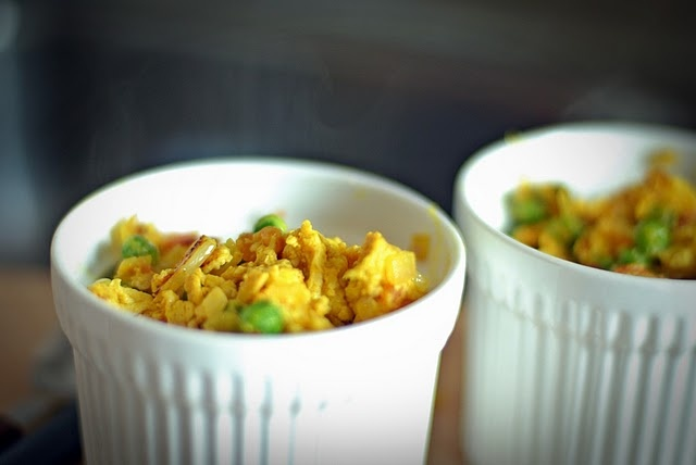 Eggs Bhurji (Indian-style scrambled eggs) I would serve with some ...