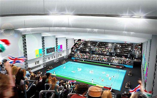 London 2012 Olympics venues: Water Polo Arena * fabric ducting by KE Fibertec UK *